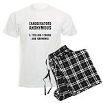 Exaggerators Anonymous Black Men's Light Pajamas
