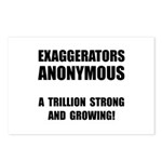 Exaggerators Anonymous Black Postcards (Package of