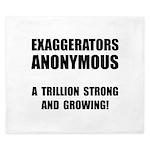 Exaggerators Anonymous Black King Duvet