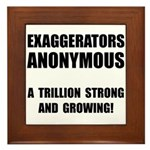 Exaggerators Anonymous Black Framed Tile