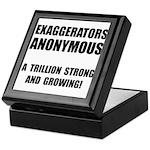 Exaggerators Anonymous Black Keepsake Box