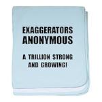 Exaggerators Anonymous Black baby blanket