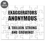 Exaggerators Anonymous Black Puzzle