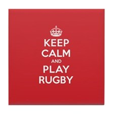 Keep Calm Play Rugby Tile Coaster