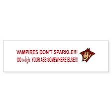 Vampires Don't Sparkle Bumper sticker