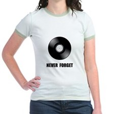 Never Forget Vinyl Black T