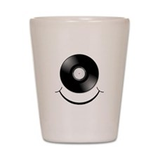 Vinyl Smile Black Shot Glass