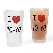 I heart Yo-Yo Drinking Glass