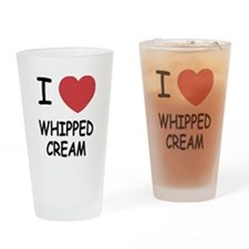 I heart Whipped Cream Drinking Glass