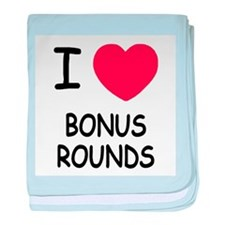 I heart Bonus Rounds baby blanket