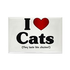 I Love Cats Rectangle Magnet (100 pack)