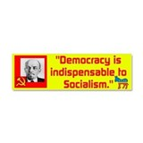 Lenin/Democracy Car Magnet 10 x 3