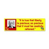 Lenin/Liberty Car Magnet 10 x 3