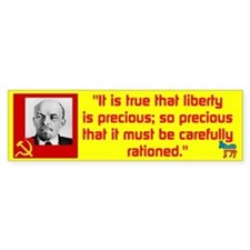 Lenin/Liberty Bumper Sticker