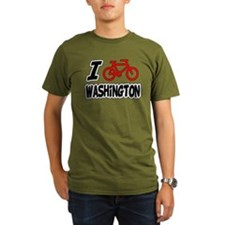 I Love Cycling Washington T-Shirt