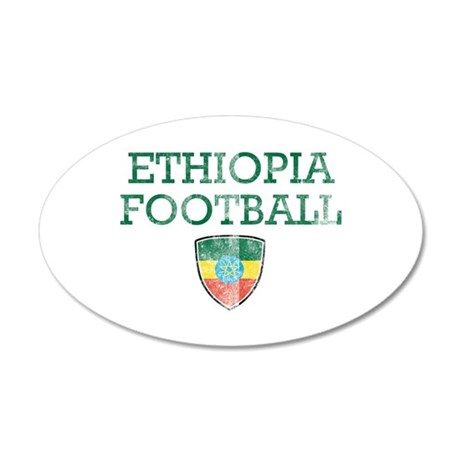 Ethiopia Soccer 20x12 Oval Wall Decal