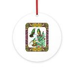 Buff Bellied Hummingbirds Ornament (Round)
