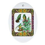 Buff Bellied Hummingbirds Ornament (Oval)
