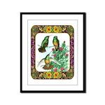Buff Bellied Hummingbirds Framed Panel Print