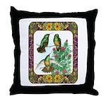 Buff Bellied Hummingbirds Throw Pillow