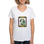Buff Bellied Hummingbirds Women's V-Neck T-Shirt