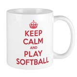 Keep Calm Play Softball Small Mugs