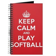 Keep Calm Play Softball Journal
