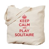 Keep Calm Play Solitaire Tote Bag