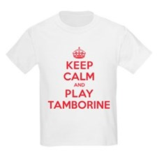 Keep Calm Play Tamborine T-Shirt