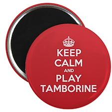 "Keep Calm Play Tamborine 2.25"" Magnet (100 pack)"