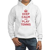 Keep Calm Play Tennis Jumper Hoody