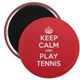 "Keep Calm Play Tennis 2.25"" Magnet (100 pack)"
