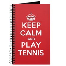Keep Calm Play Tennis Journal