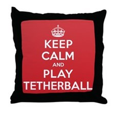 Keep Calm Play Tetherball Throw Pillow