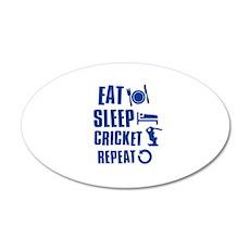 Eat Sleep Cricket 20x12 Oval Wall Decal