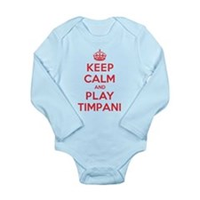 Keep Calm Play Timpani Long Sleeve Infant Bodysuit