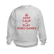 Keep Calm Play Video Games Sweatshirt