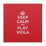 Keep Calm Play Viola Tile Coaster