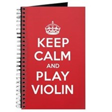 Keep Calm Play Violin Journal