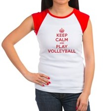 Keep Calm Play Volleyball Tee