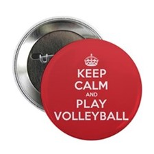 """Keep Calm Play Volleyball 2.25"""" Button (100 pack)"""