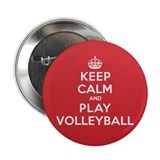 Keep Calm Play Volleyball 2.25&quot; Button (10 pack)