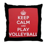 Keep Calm Play Volleyball Throw Pillow