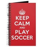 Keep Calm Play Soccer Journal