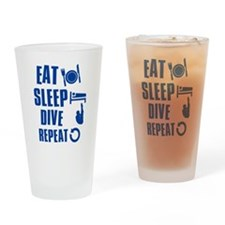 Eat Sleep Dive Drinking Glass