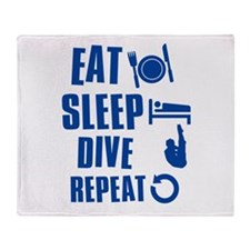 Eat Sleep Dive Throw Blanket