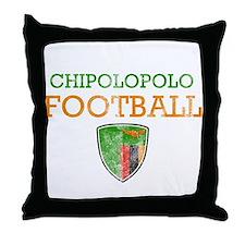 Zambia Football Throw Pillow