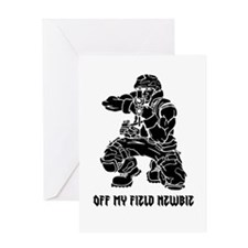 Off My Field Newbie Greeting Card