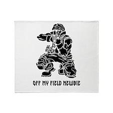 Off My Field Newbie Throw Blanket