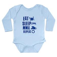 Eat Sleep MMA Long Sleeve Infant Bodysuit